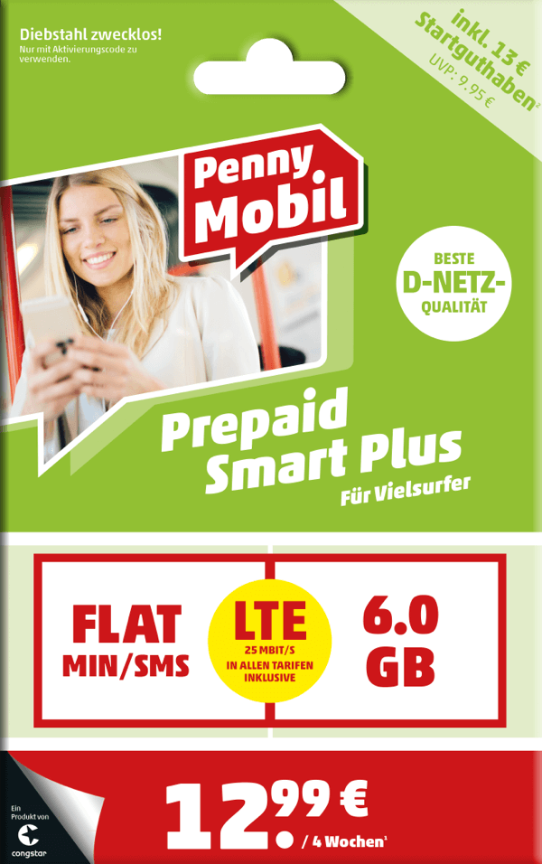 Penny Mobil Prepaid Smart Plus